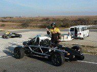 Eddie with his Ariel Atom at Hallett