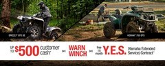 Yamaha - Current Offers - Utility ATV - $500 Cash Back